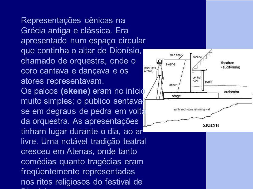 Representações cênicas na Grécia antiga e clássica