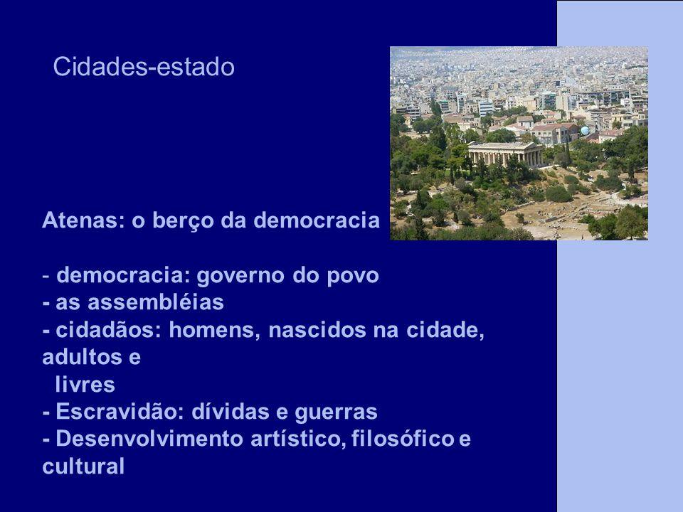 Cidades-estado Atenas: o berço da democracia
