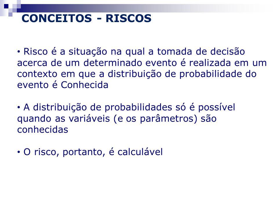 CONCEITOS - RISCOS