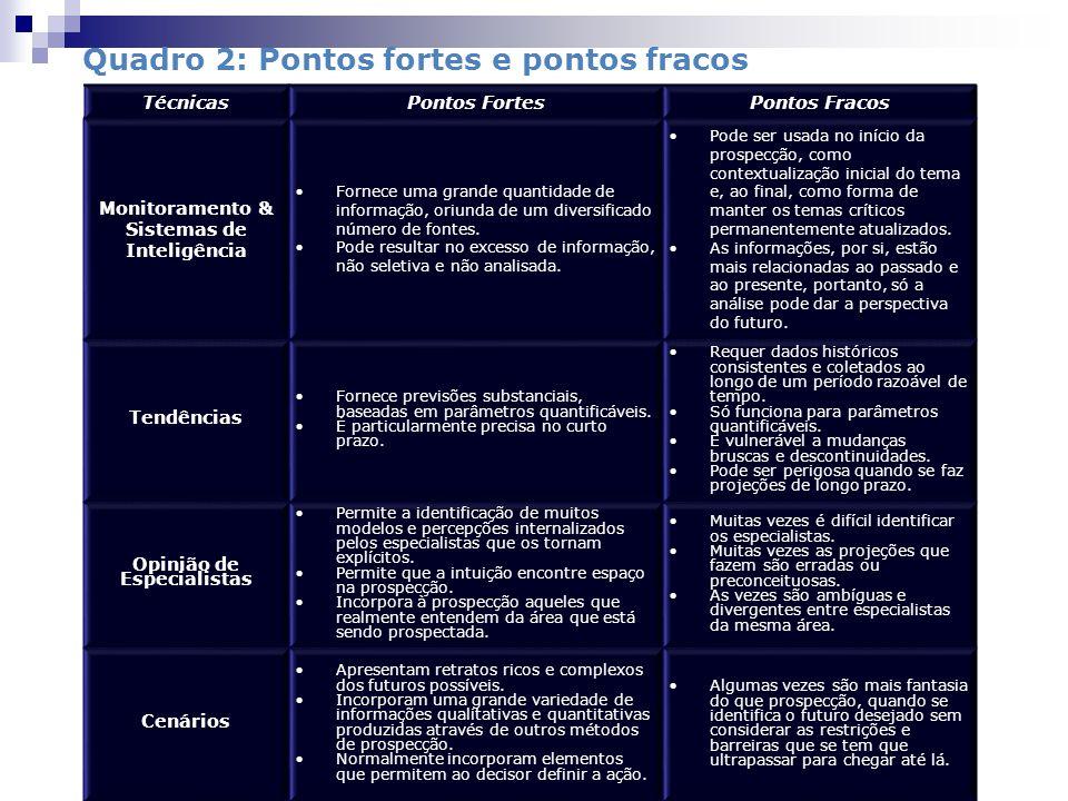 Monitoramento & Sistemas de Inteligência Opinião de Especialistas