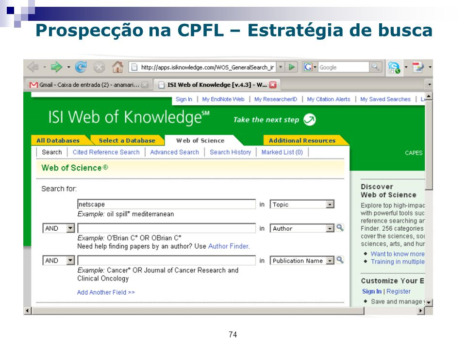 Prospecção na CPFL – Estratégia de busca