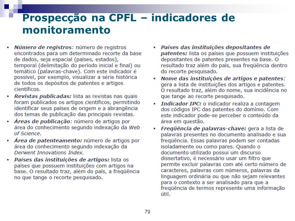 Prospecção na CPFL – indicadores de monitoramento