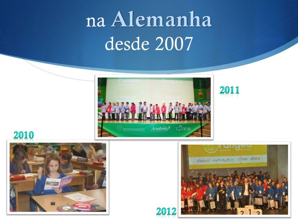 na Alemanha desde 2007 2011 2010 2012