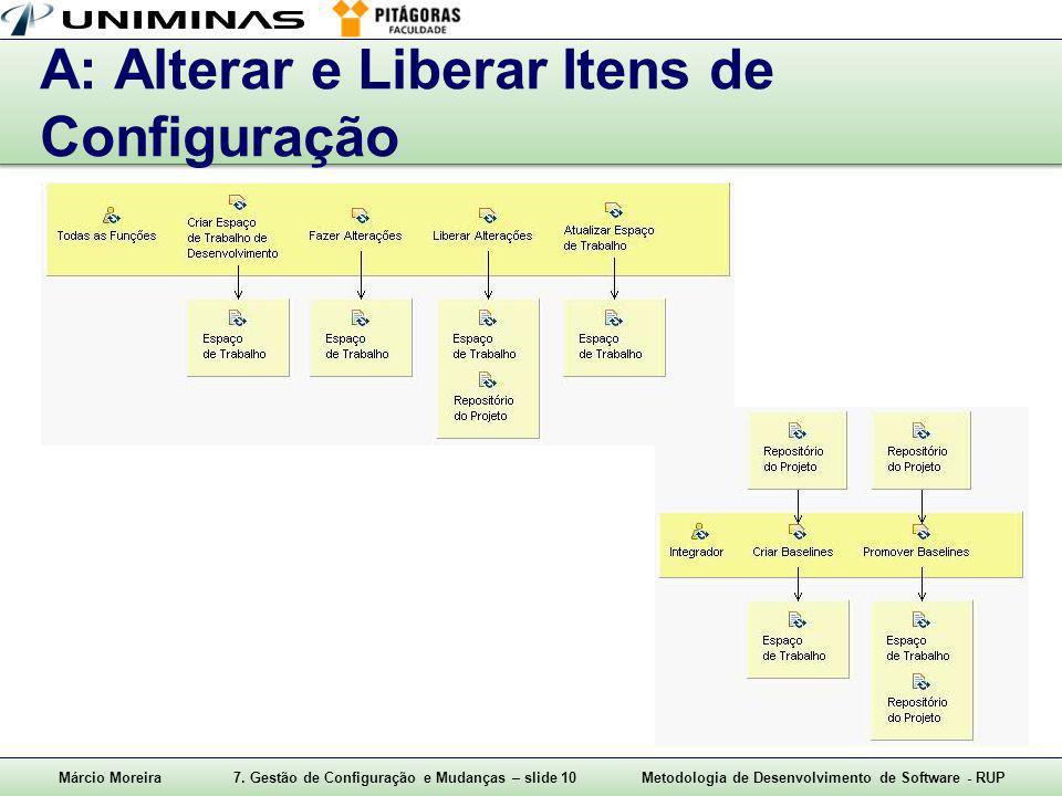 A: Alterar e Liberar Itens de Configuração