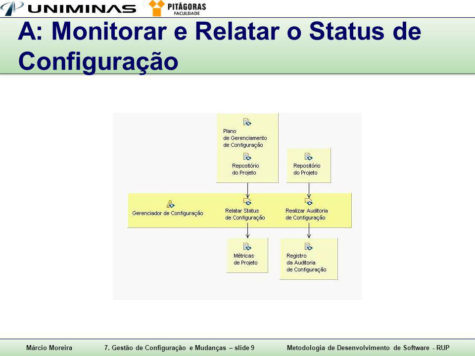 A: Monitorar e Relatar o Status de Configuração