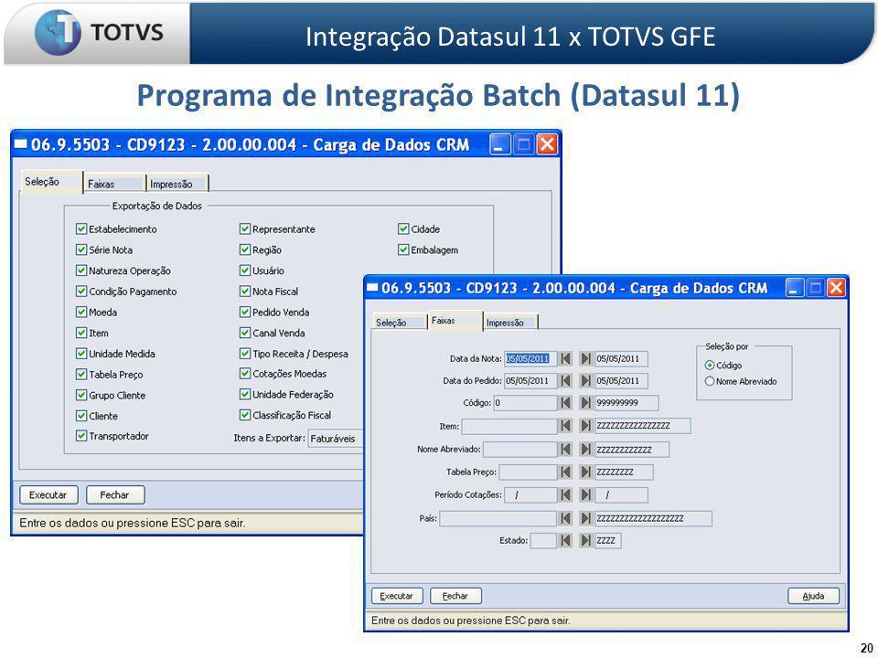 Programa de Integração Batch (Datasul 11)