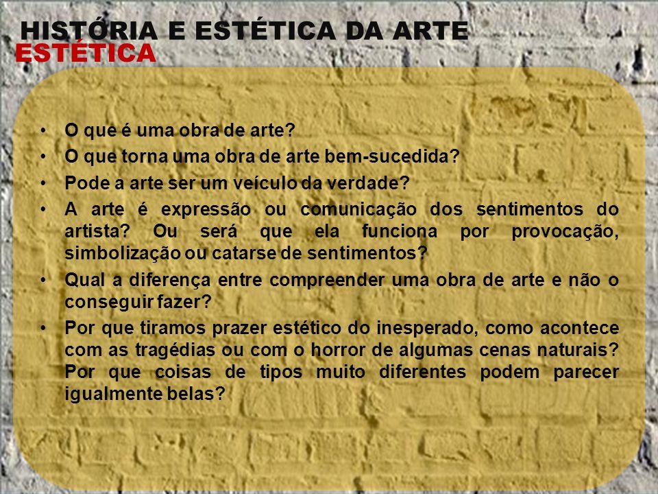 O que é uma obra de arte O que torna uma obra de arte bem-sucedida Pode a arte ser um veículo da verdade