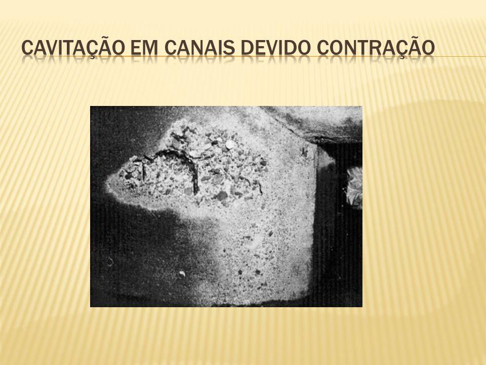 Cavitação em canais devido contração