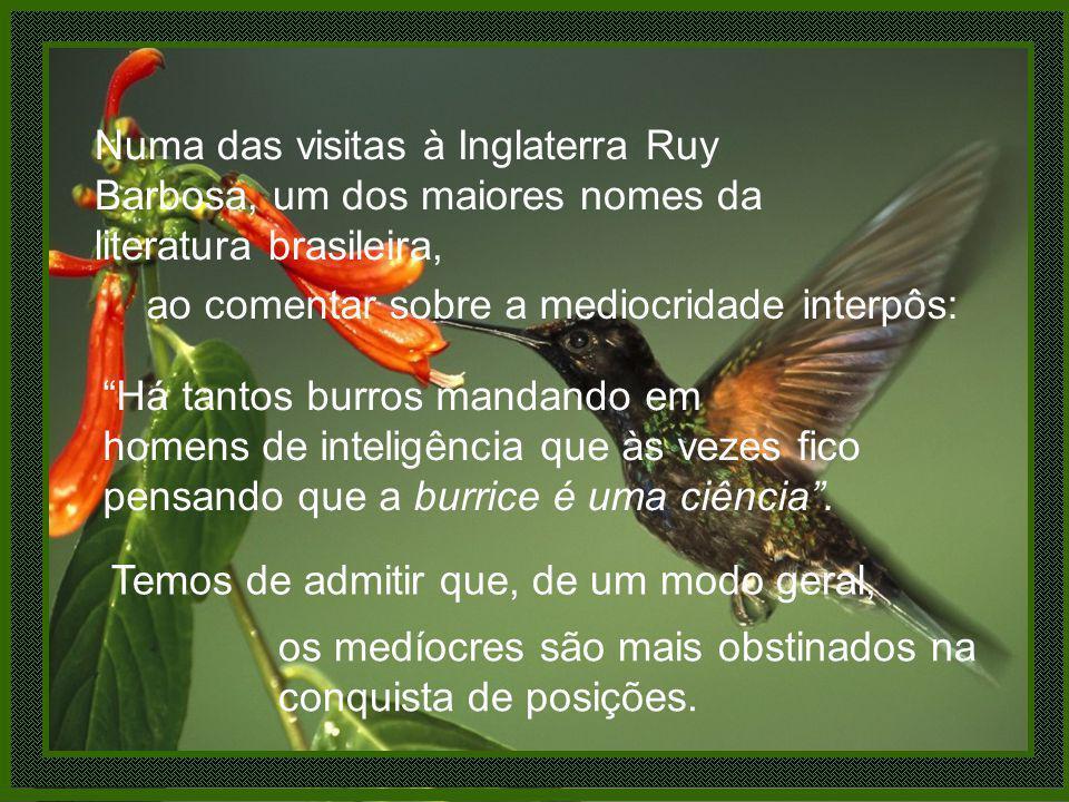 Numa das visitas à Inglaterra Ruy Barbosa, um dos maiores nomes da literatura brasileira,