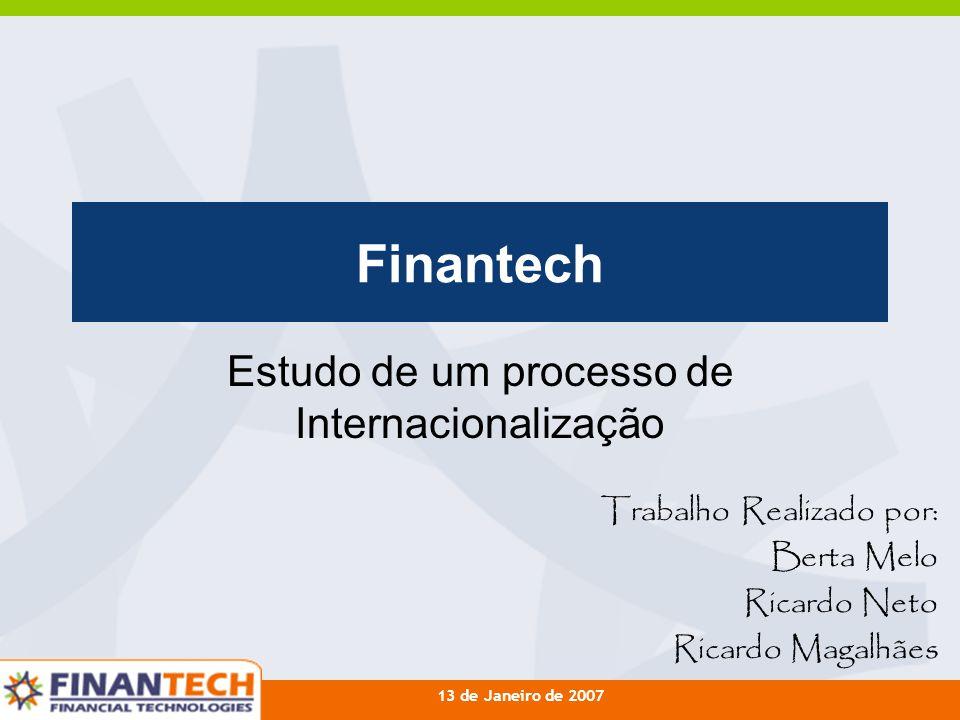 Estudo de um processo de Internacionalização