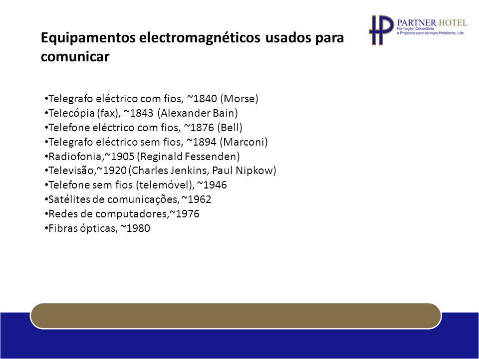 Equipamentos electromagnéticos usados para comunicar