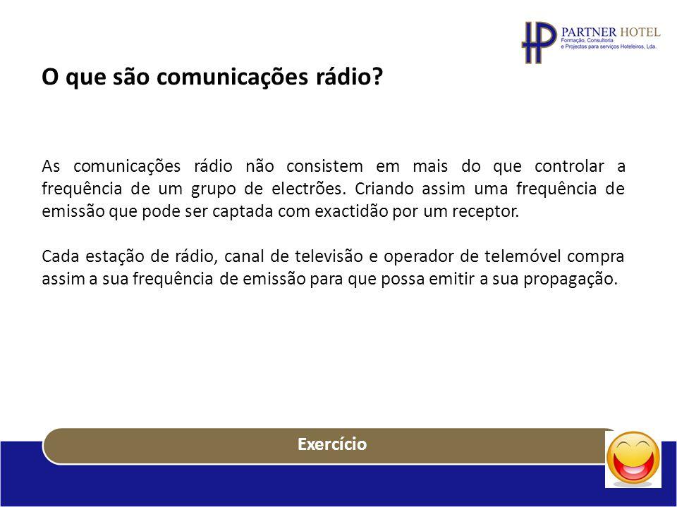 O que são comunicações rádio