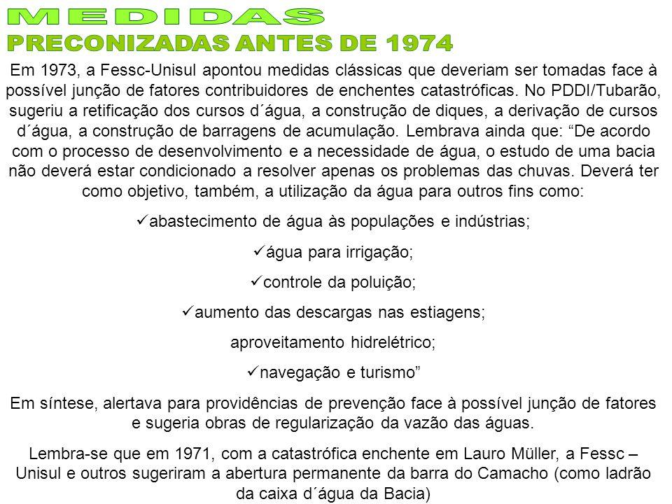 MEDIDAS PRECONIZADAS ANTES DE 1974