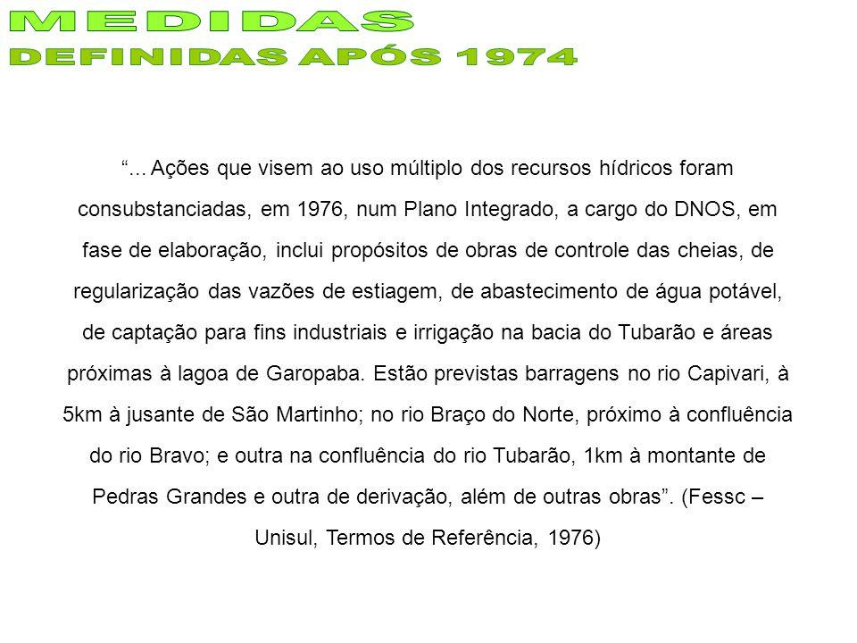 MEDIDAS DEFINIDAS APÓS 1974