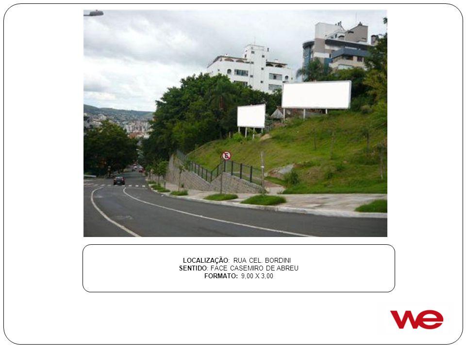 LOCALIZAÇÃO: RUA CEL. BORDINI SENTIDO: FACE CASEMIRO DE ABREU