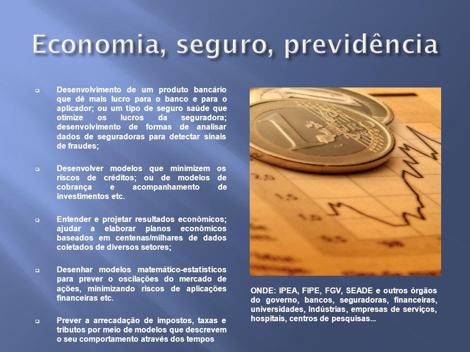 Economia, seguro, previdência