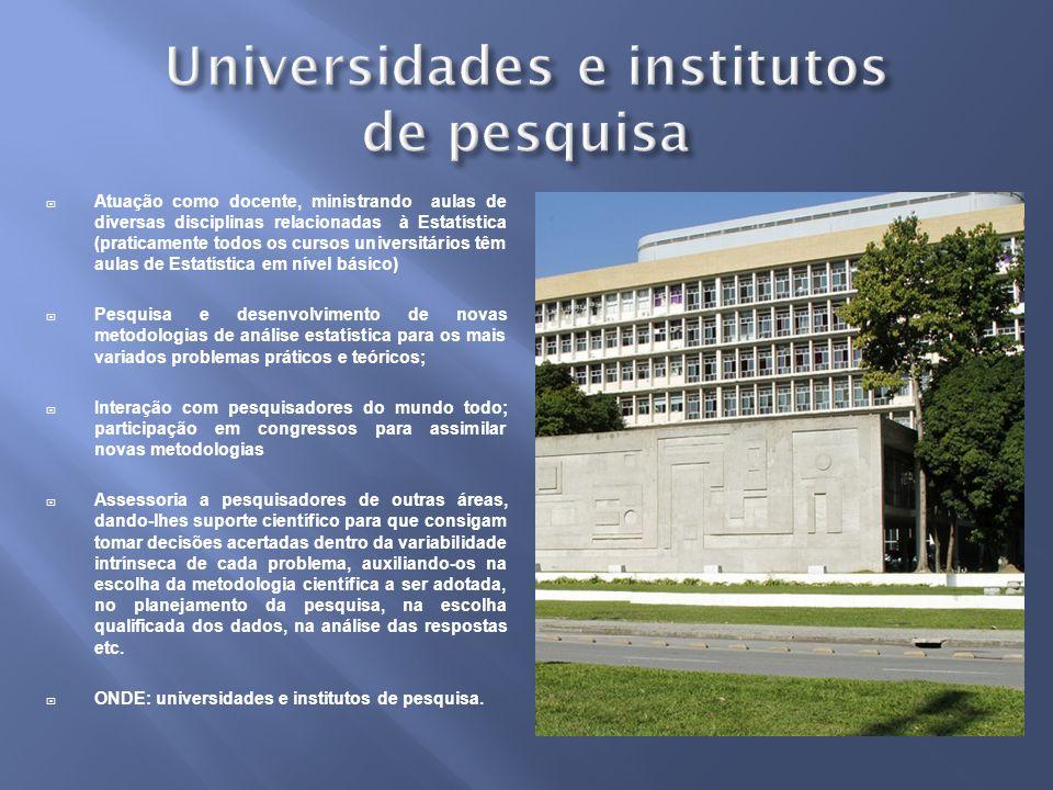 Universidades e institutos de pesquisa