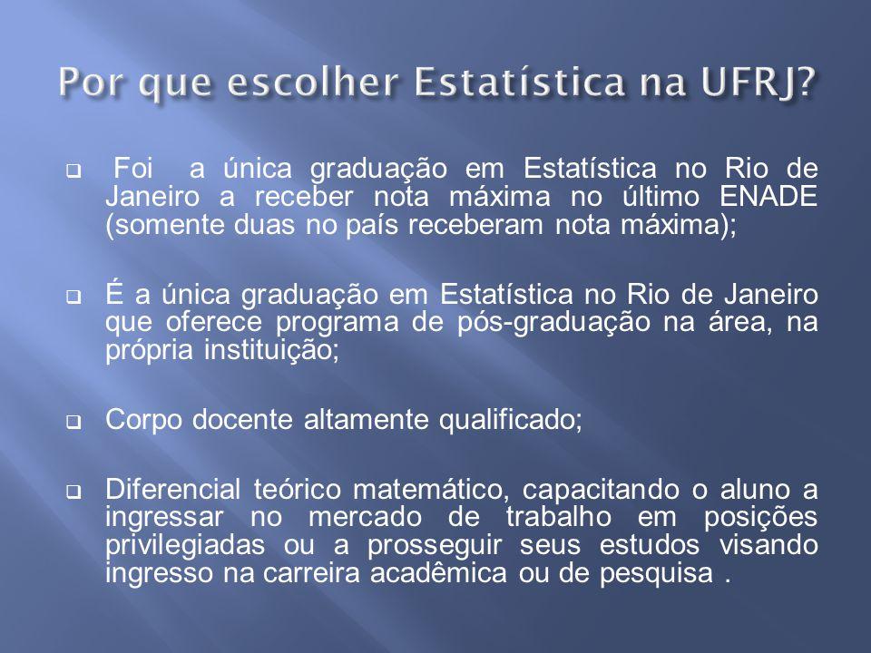 Por que escolher Estatística na UFRJ
