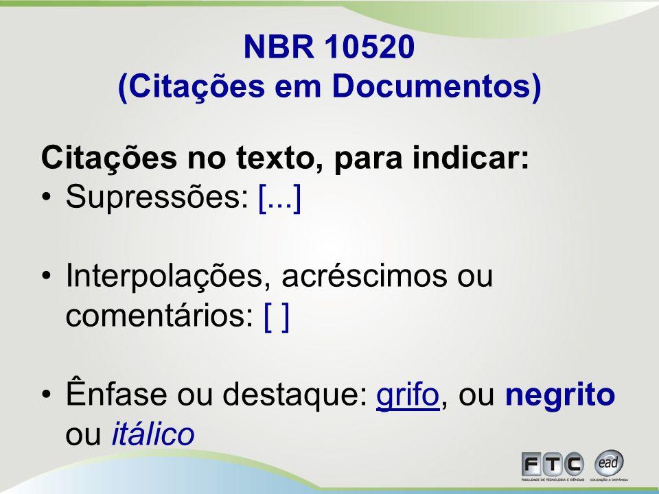 NBR 10520 (Citações em Documentos)