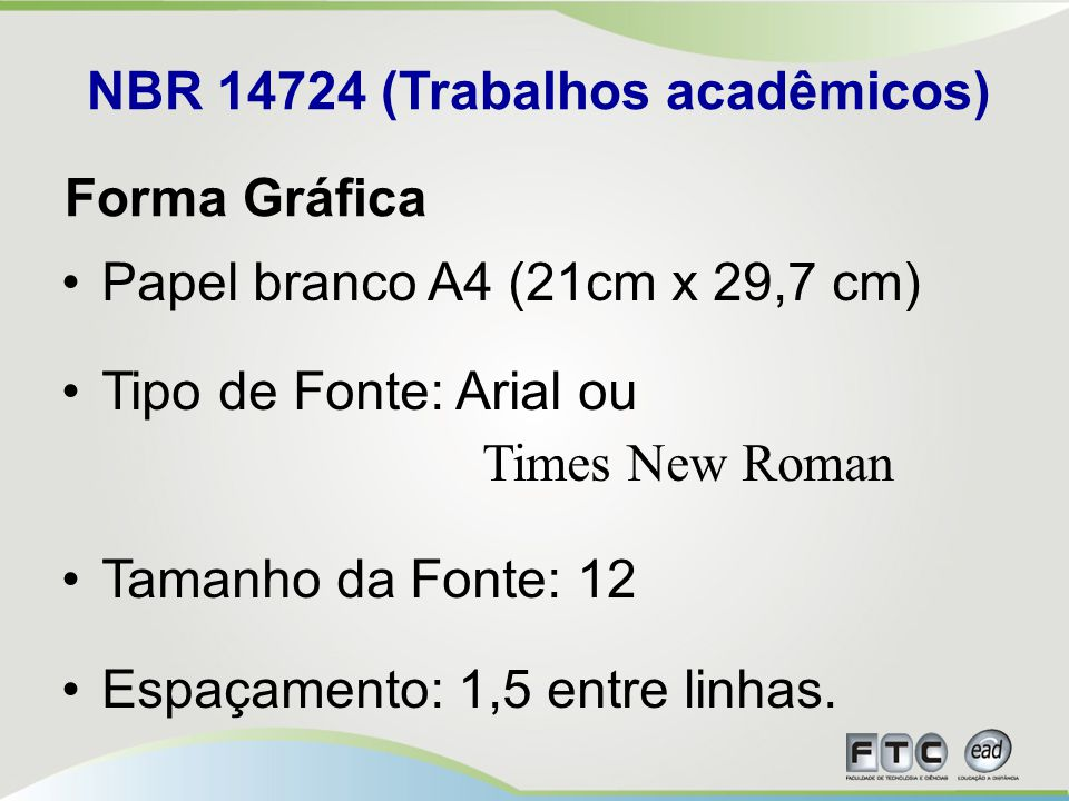 NBR 14724 (Trabalhos acadêmicos)