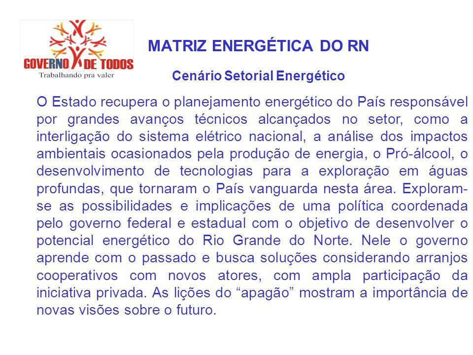 MATRIZ ENERGÉTICA DO RN Cenário Setorial Energético