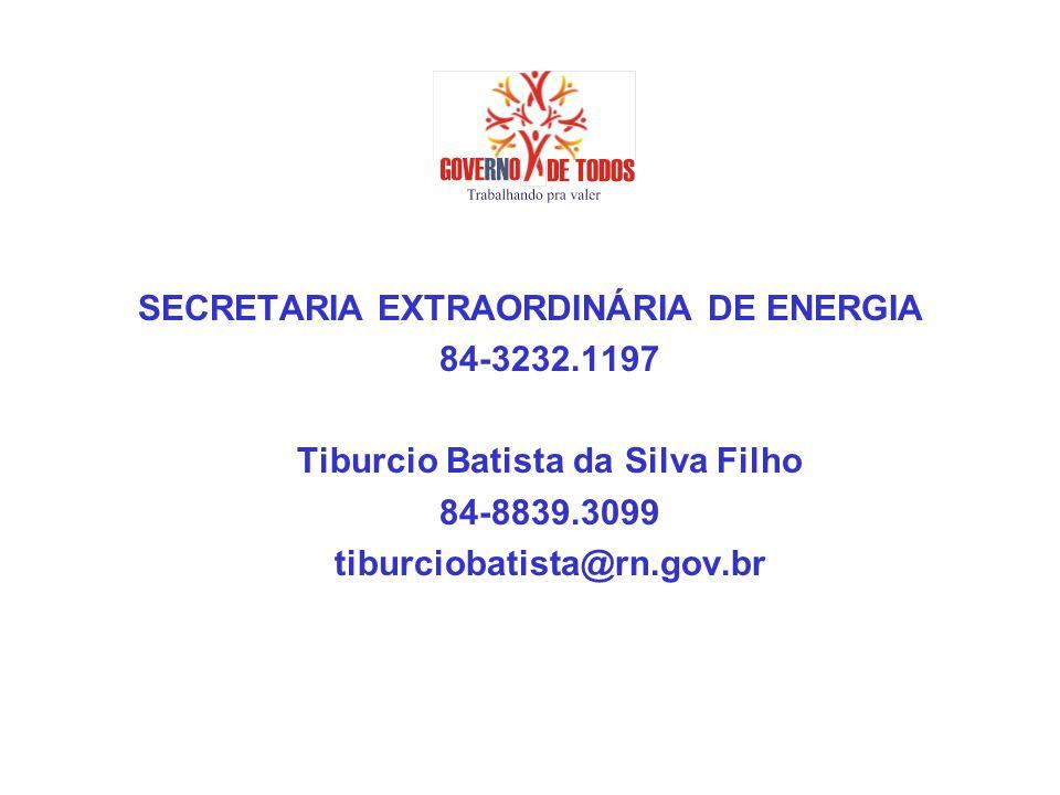 SECRETARIA EXTRAORDINÁRIA DE ENERGIA Tiburcio Batista da Silva Filho