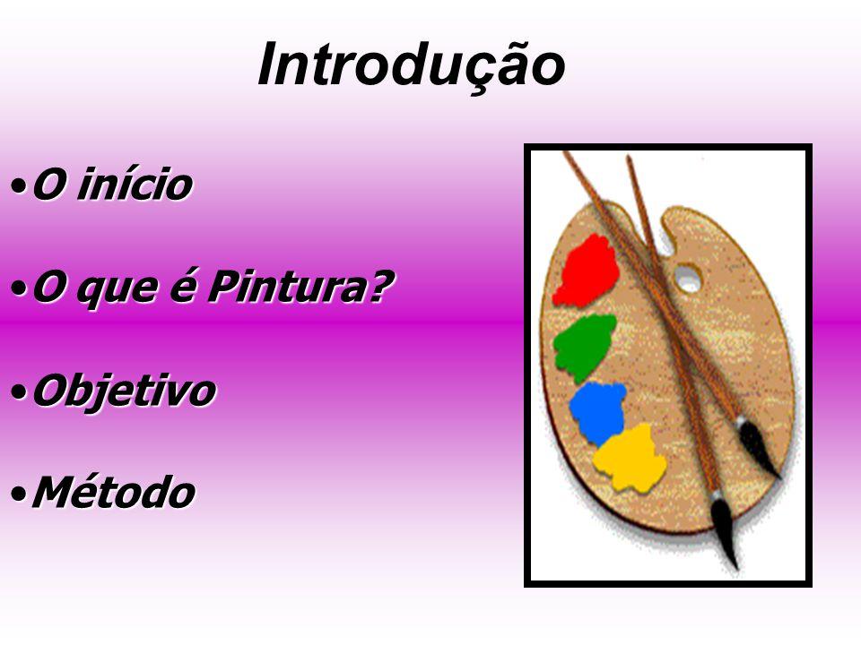 Introdução O início O que é Pintura Objetivo Método