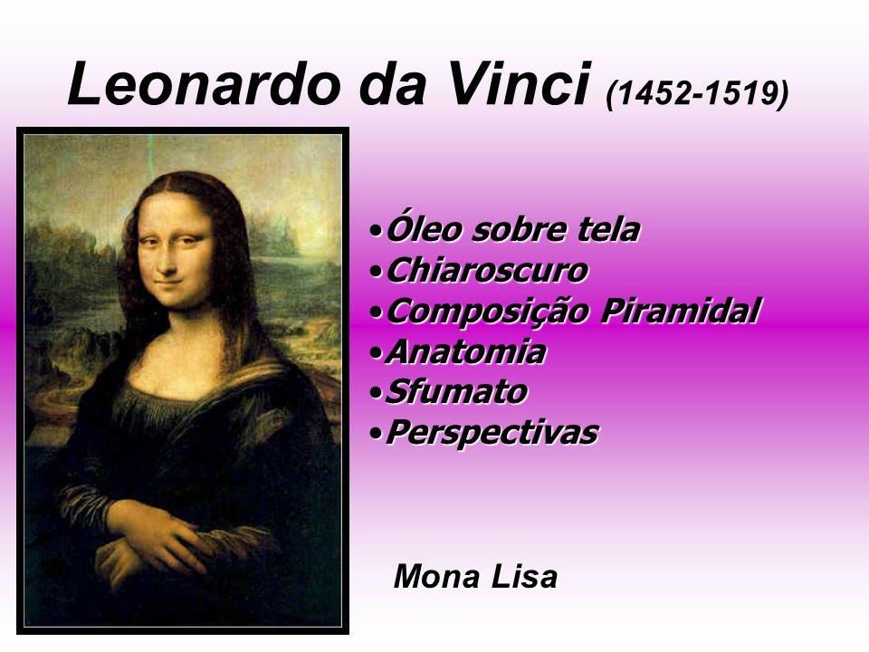 Leonardo da Vinci (1452-1519) Óleo sobre tela Chiaroscuro