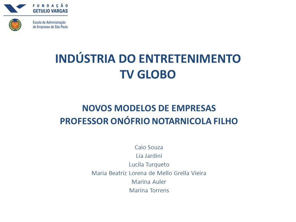 INDÚSTRIA DO ENTRETENIMENTO TV GLOBO