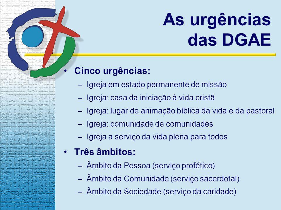 As urgências das DGAE Cinco urgências: Três âmbitos: