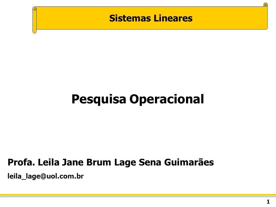 Pesquisa Operacional Sistemas Lineares