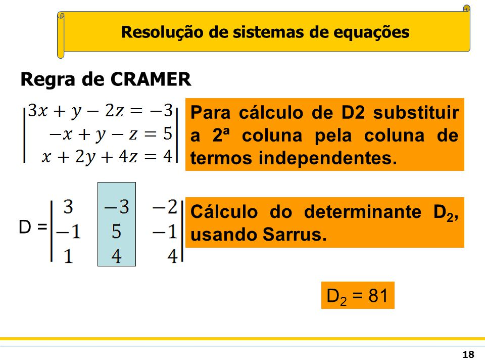 Resolução de sistemas de equações