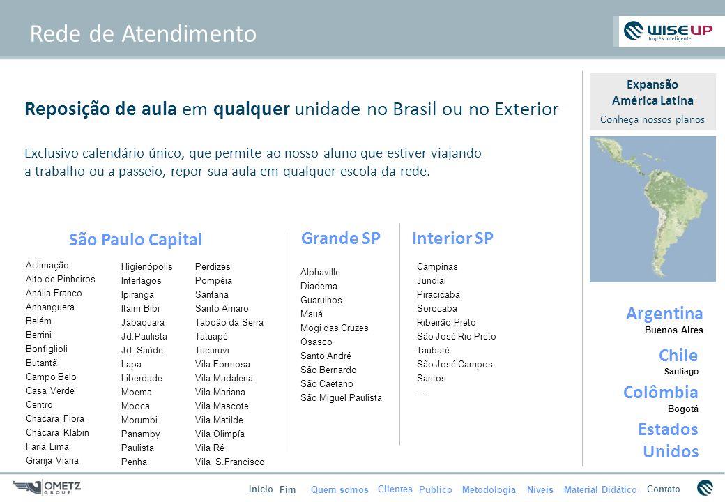 Rede de Atendimento Expansão. América Latina. Conheça nossos planos. Reposição de aula em qualquer unidade no Brasil ou no Exterior.
