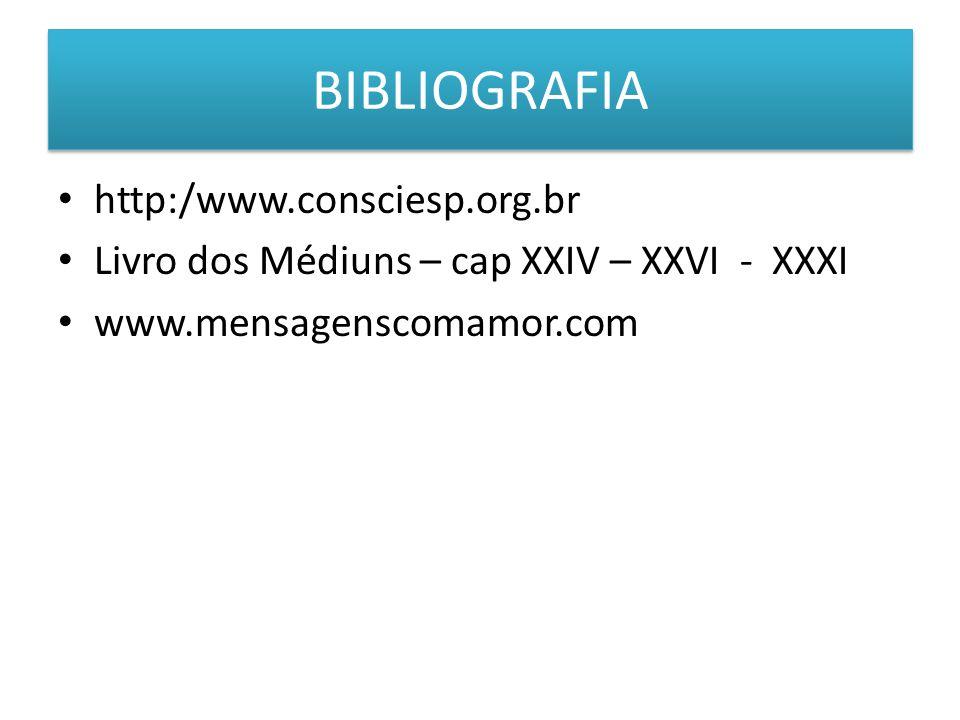 BIBLIOGRAFIA http:/www.consciesp.org.br