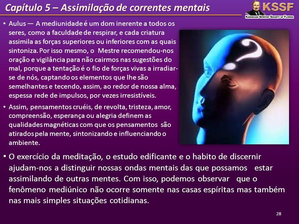 Capítulo 5 – Assimilação de correntes mentais