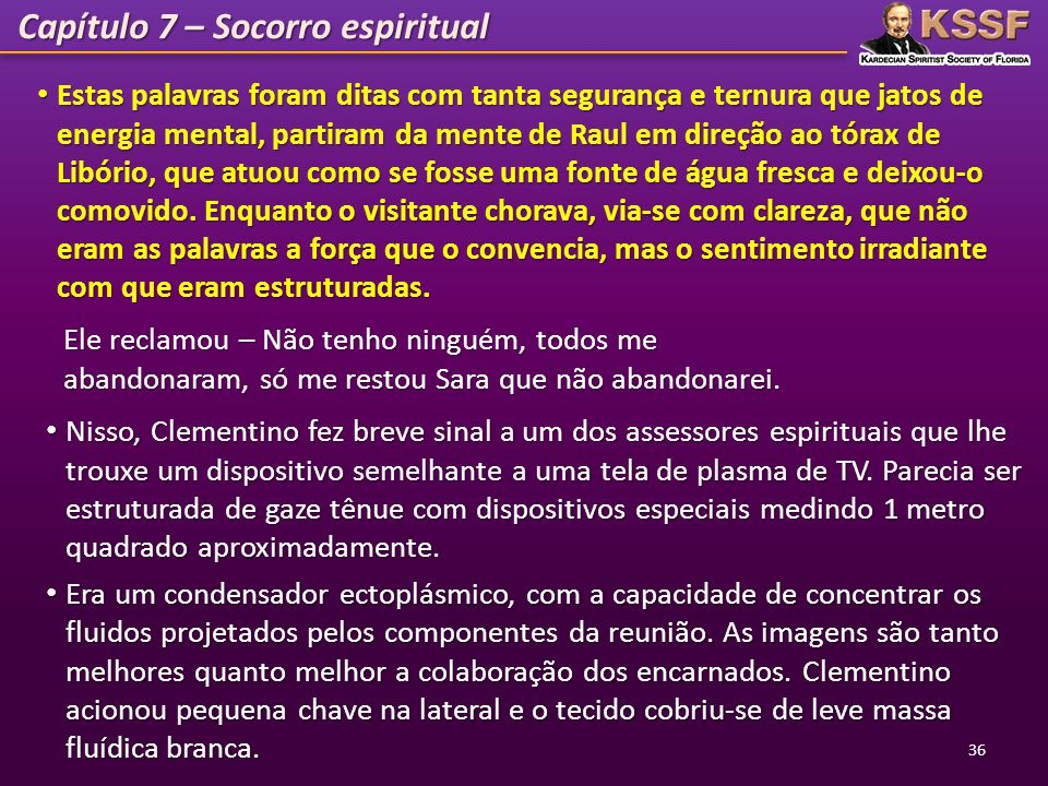 Capítulo 7 – Socorro espiritual