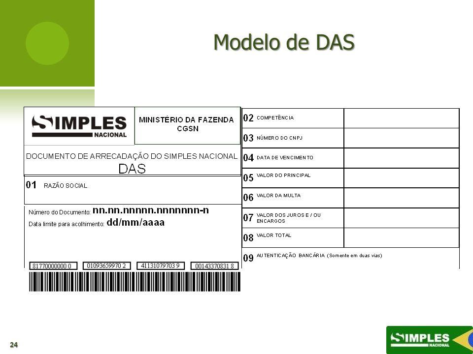 Modelo de DAS 00:00: