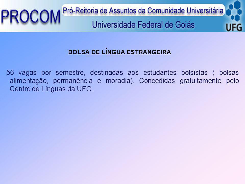 BOLSA DE LÍNGUA ESTRANGEIRA