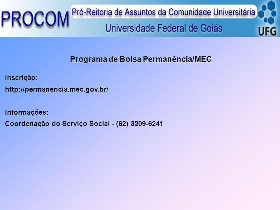Programa de Bolsa Permanência/MEC