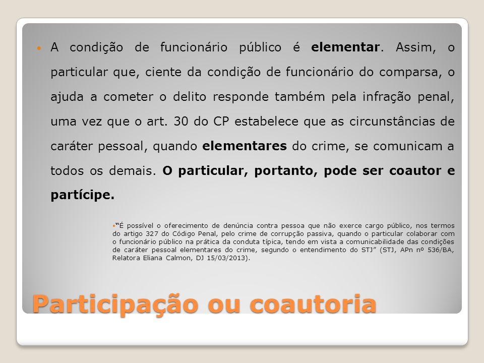 Participação ou coautoria