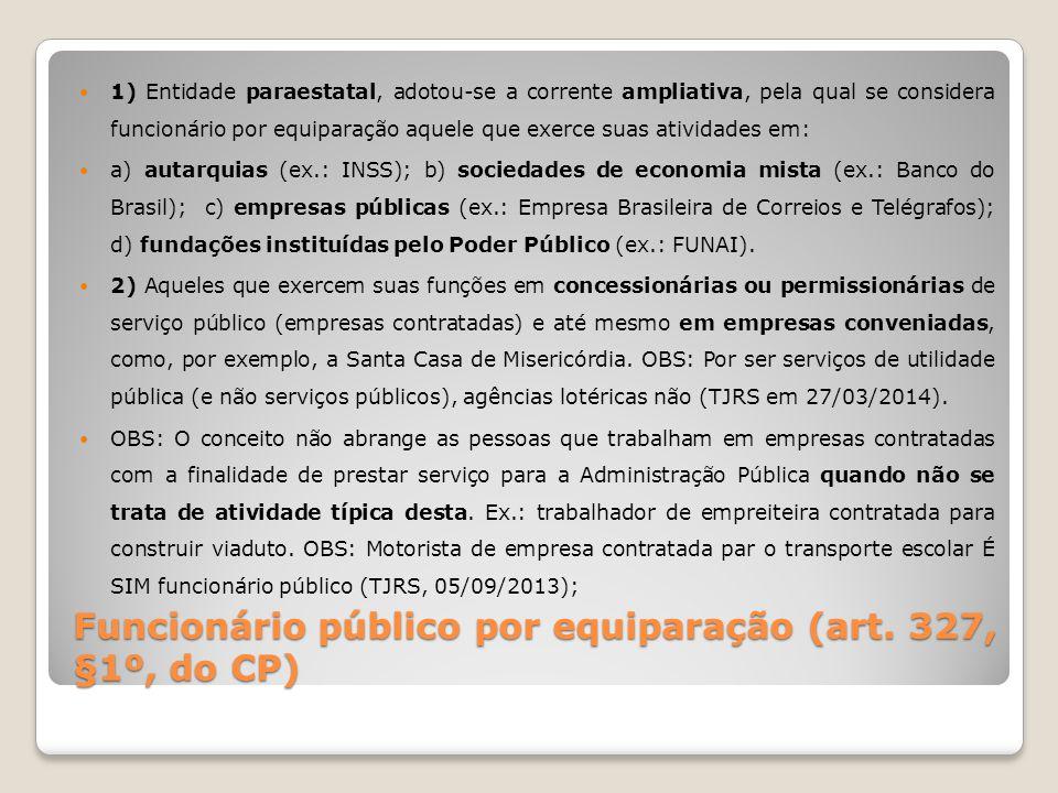 Funcionário público por equiparação (art. 327, §1º, do CP)