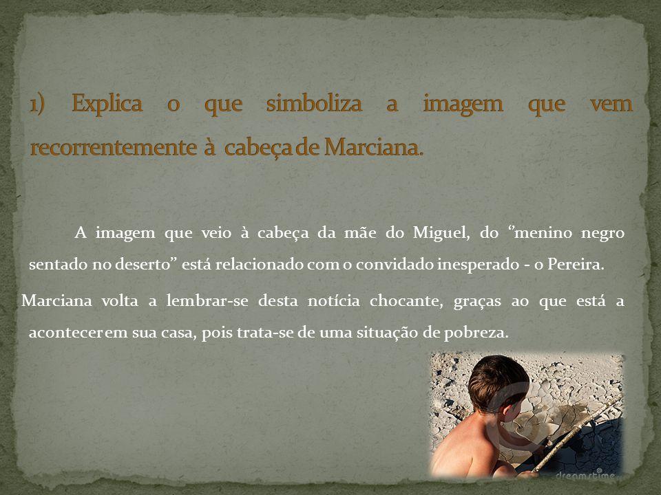 1) Explica o que simboliza a imagem que vem recorrentemente à cabeça de Marciana.