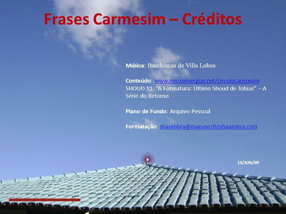 Frases Carmesim – Créditos