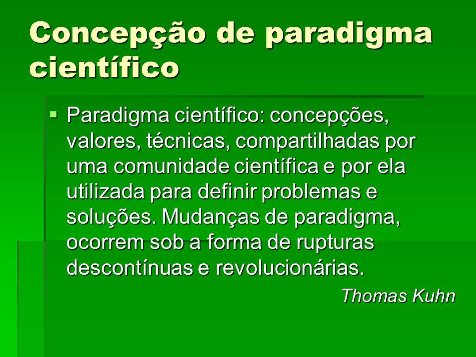 Concepção de paradigma científico