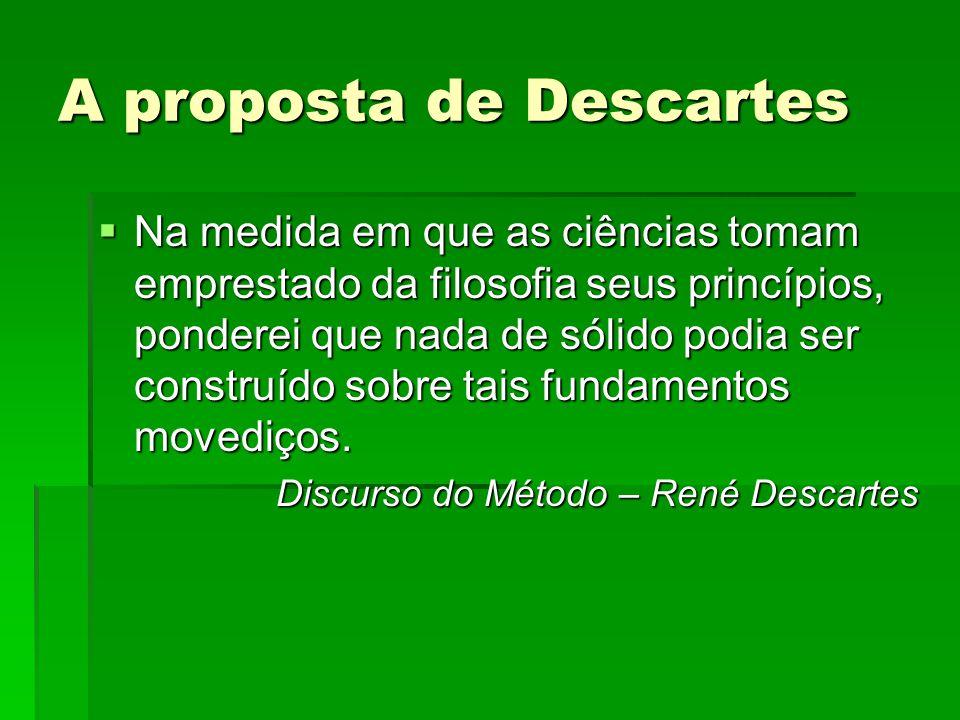 A proposta de Descartes