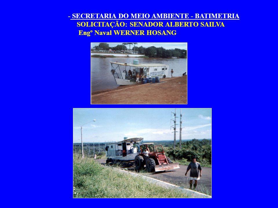 - SECRETARIA DO MEIO AMBIENTE - BATIMETRIA
