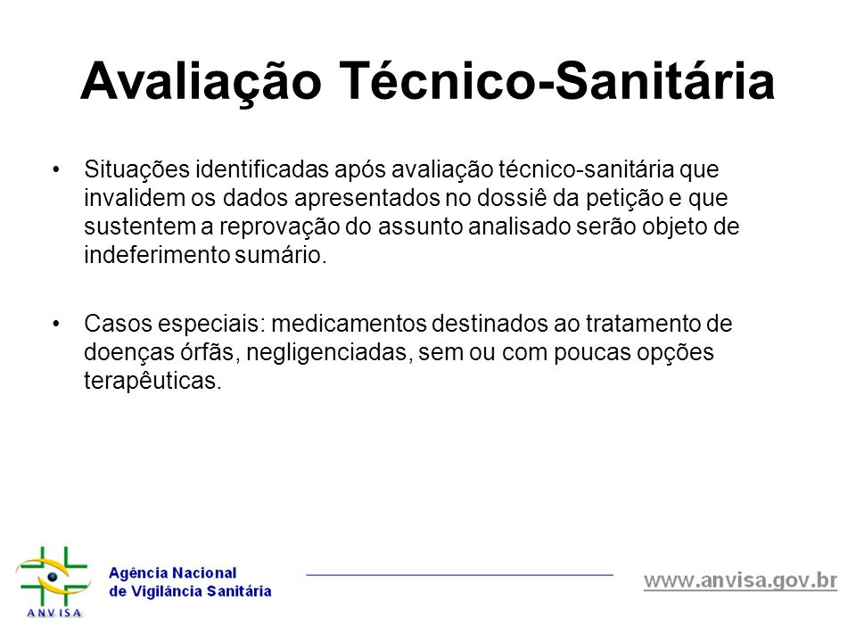 Avaliação Técnico-Sanitária