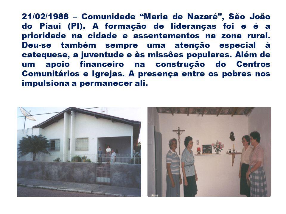 21/02/1988 – Comunidade Maria de Nazaré , São João do Piauí (PI)