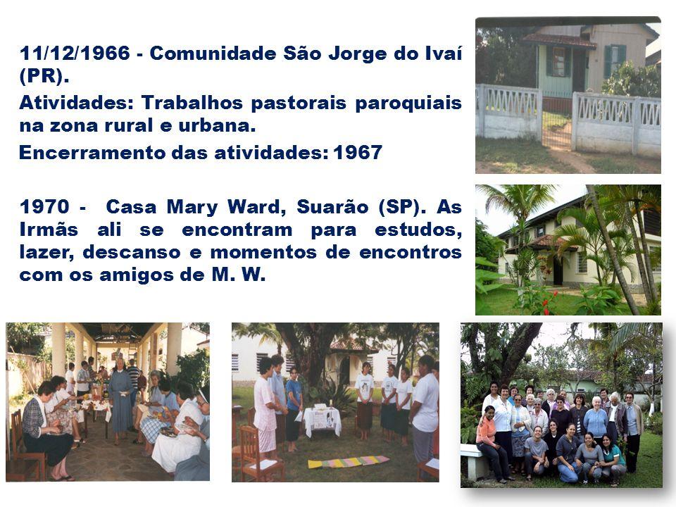 11/12/1966 - Comunidade São Jorge do Ivaí (PR)