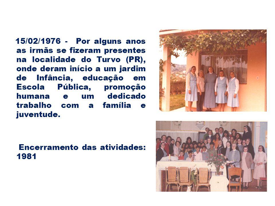 Encerramento das atividades: 1981